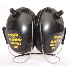 Pro TEKT 300 Electronic Hearing Protection with Behind The Head Headband, Black