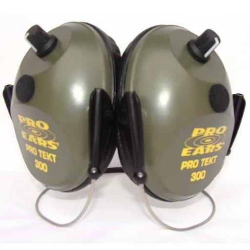View a Larger Image of Pro TEKT 300 Electronic Hearing Protection with Behind The Head Headband, Green