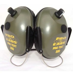 Pro TEKT 300 Electronic Hearing Protection with Behind The Head Headband, Green