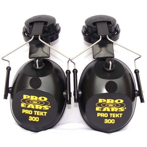 View a Larger Image of Pro TEKT 300 Electronic Hearing Protection with Hard Hat Adaptor, Black