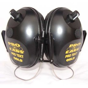 Pro Tekt Gold Electronic Hearing Protection with Behind The Head Headband, Black