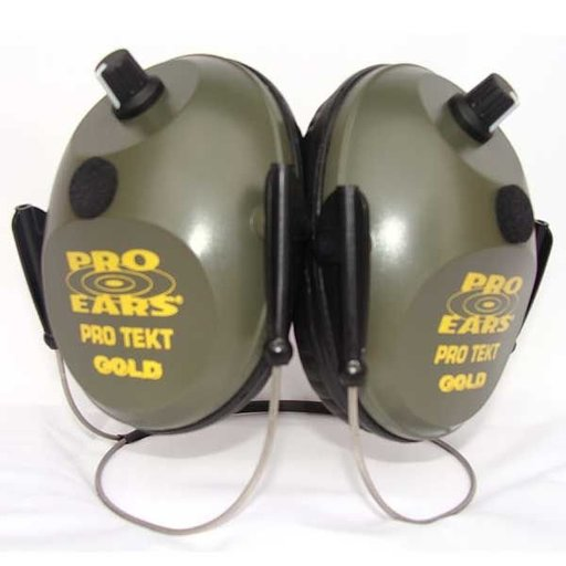 View a Larger Image of Pro Tekt Gold Electronic Hearing Protection with Behind The Head Headband, Green