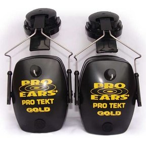 Pro TEKT Mag Gold Electronic Hearing Protection with Hard Hat Adaptor, Black
