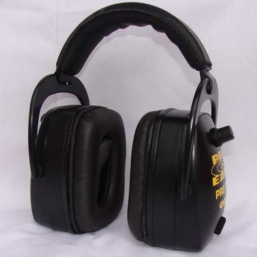 View a Larger Image of Pro TEKT Mag Gold Electronic Hearing Protection with Standard Headband, Black
