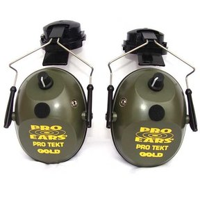 Pro TEKT Plus Gold Electronic Hearing Protection with Hard Hat Adaptor, Green