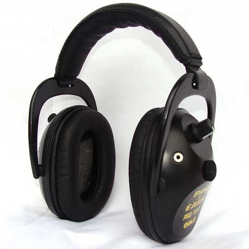 View a Larger Image of Pro TEKT Plus Gold Electronic Hearing Protection with Standard Headband, Black