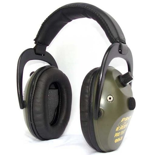 View a Larger Image of Pro TEKT Plus Gold Electronic Hearing Protection with Standard Headband , Green