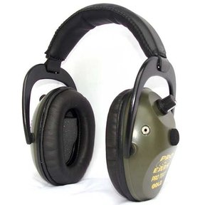 Pro TEKT Plus Gold Electronic Hearing Protection with Standard Headband , Green