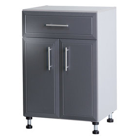 ProGarage 2-Door Storage Cabinet, Gray