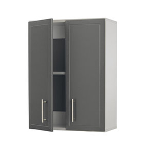 ProGarage 2-Door Wall Cabinet, Gray