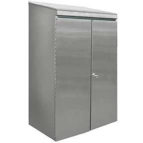 Protective Stainless Steel Housing with Lockable Door