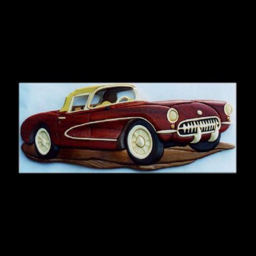 View a Larger Image of '56 Corvette Intarsia Pattern