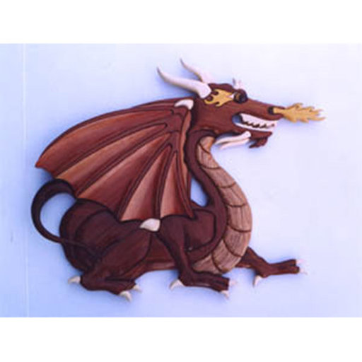 View a Larger Image of Dragon Intarsia Pattern