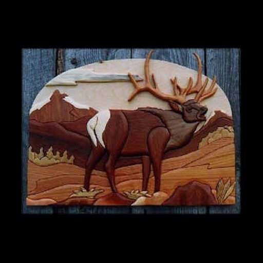 View a Larger Image of Elk Intarsia Pattern