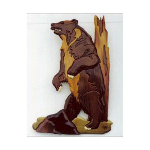 View a Larger Image of Grizzly Intarsia Pattern