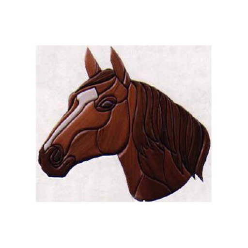 View a Larger Image of Horse Intarsia Pattern