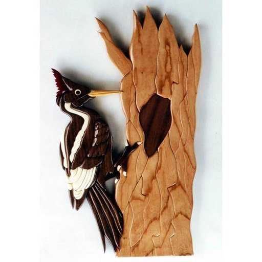 View a Larger Image of Ivory-Billed Woodpecker Intarsia Pattern