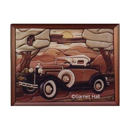 View a Larger Image of Model A Roadster Intarsia Pattern