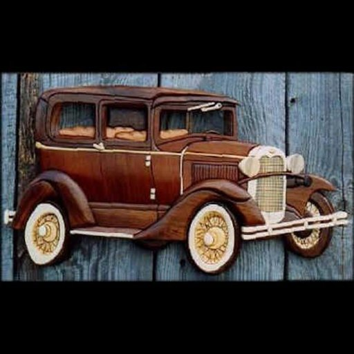 View a Larger Image of Model A Sedan Intarsia Pattern