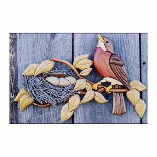 View a Larger Image of Robin Intarsia Pattern