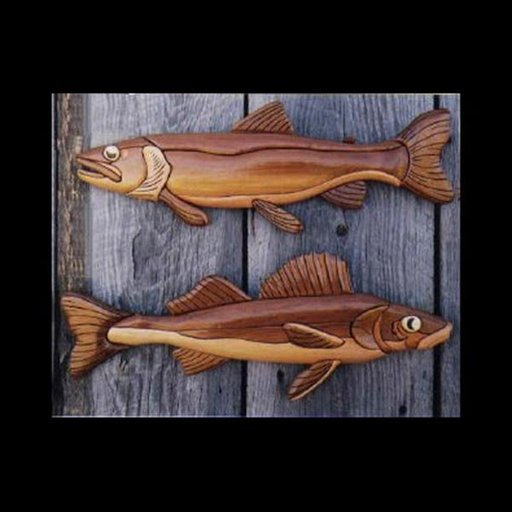 View a Larger Image of Walleye and Trout Intarsia Pattern