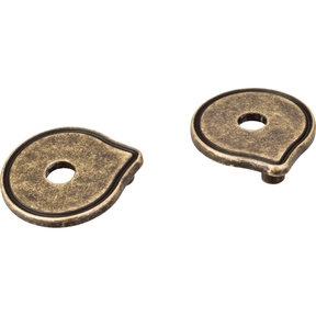 Pull Escutcheon for use with 527   Distressed Antique Brass