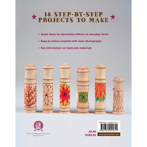 View a Larger Image of Pyrography 18 Step-by-Step Projects to Make