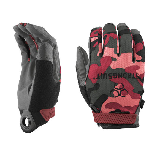View a Larger Image of Q Series Pink Camo Gloves Medium