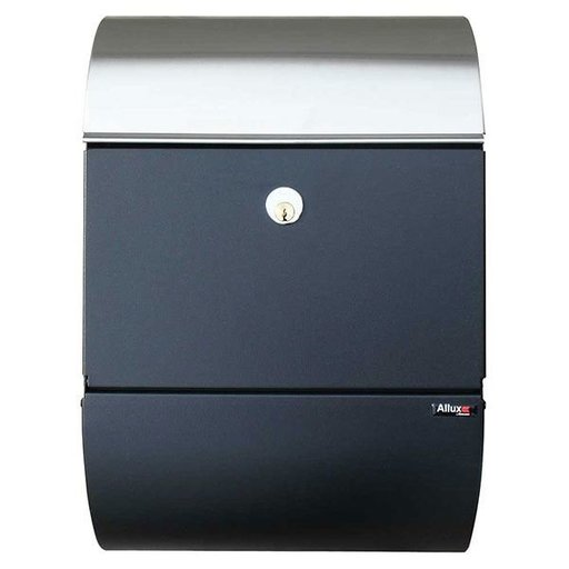 View a Larger Image of Allux 3000 Mailbox, Black and Stainless Steel