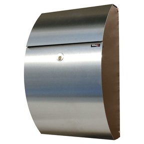Allux 7000 Mailbox, Black and Stainless Steel