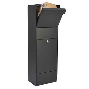 Allux Grandform Mail/Parcel Box, Black