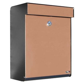 Allux Grandform Mailbox, Black and Copper