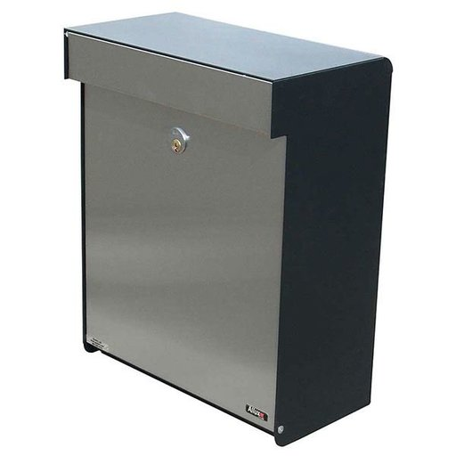 View a Larger Image of Allux Grandform Mailbox, Black and Stainless Steel