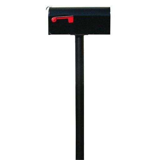 View a Larger Image of Economy Mailbox with Handford Post, Black
