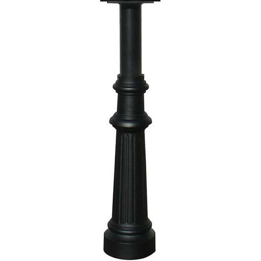 View a Larger Image of Hanford Post with Fluted Base, Black