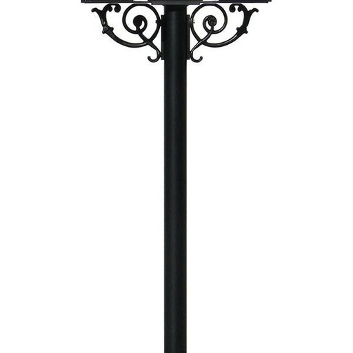 View a Larger Image of Hanford Triple Post with Support Braces, Black