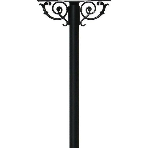 View a Larger Image of Hanford Twin Post with Support Braces, Black