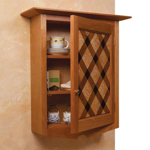 View a Larger Image of Quilt-Front Wall Cabinet - Paper Plan