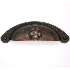 Raised Star Cup Pull, Oil Rubbed Bronze