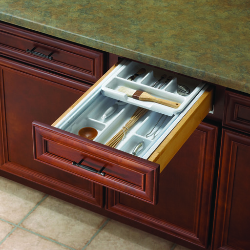 """View a Larger Image of Real Solutions 13""""-15"""" Wide Two-Tiered Tableware Organizer"""