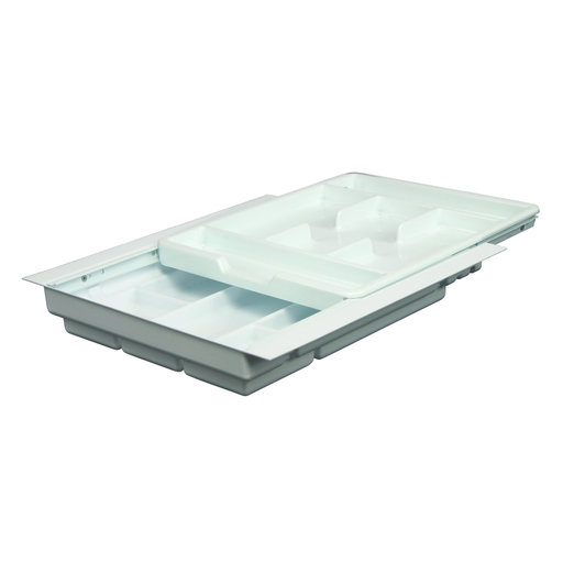 "View a Larger Image of Real Solutions 15""-18"" Wide Two-Tiered Tableware Organizer"