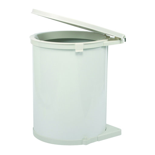 View a Larger Image of Real Solutions Single 32qt Pivot-out Waste & Recyling Unit with Lid, White