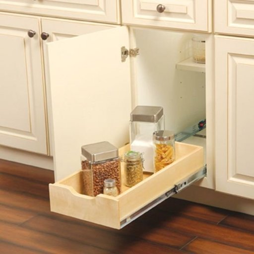 "View a Larger Image of Real Solutions Solid Wood Soft Closing Cabinet Drawer, 11.625"" W x 5"" H x 22"" D"