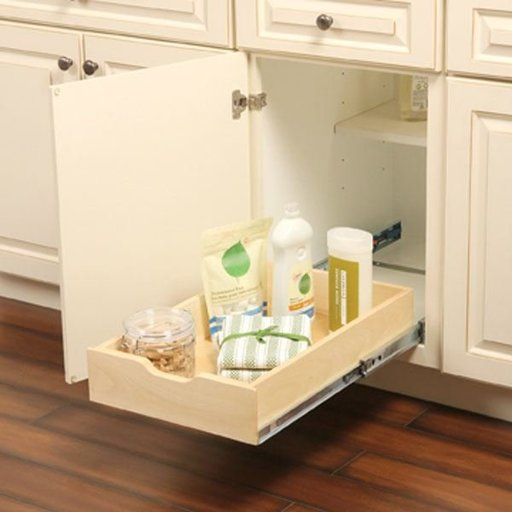 """View a Larger Image of Real Solutions Solid Wood Soft Closing Cabinet Drawer, 14.625"""" W x 5"""" H x 22"""" D"""