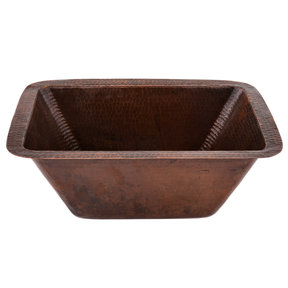 "Rectangle Copper Bar Sink w/ 2"" Drain Size"