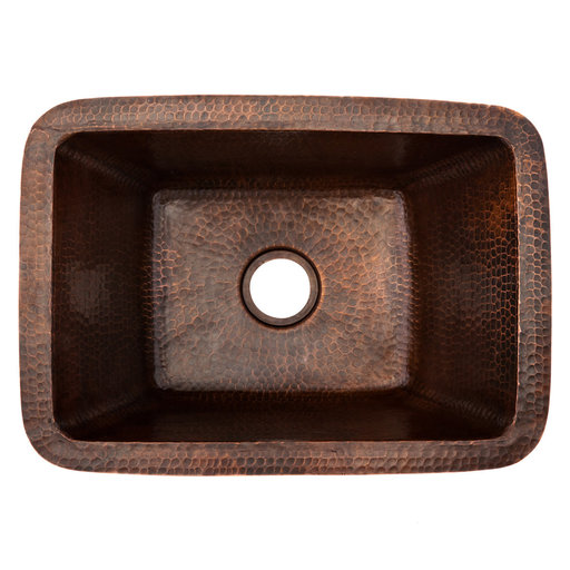 """View a Larger Image of Rectangle Copper Bar Sink w/ 2"""" Drain Size"""