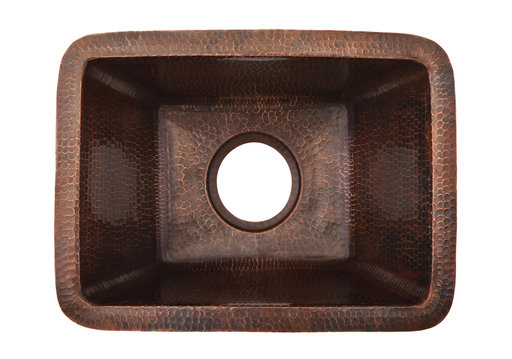 "View a Larger Image of Rectangle Copper Prep Sink w/ 3.5"" Drain Size"