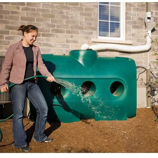 View a Larger Image of Rectangular Rain Harvest System, 214 gallon, Green