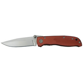"Red Diamond - Anodized Aluminum Folder Knife, Stainless Steel 3-1/4"" Blade"