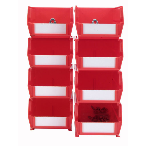 View a Larger Image of Red Hanging Bin & Clip Kits